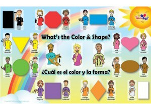 sign language colors and shapes poster time to sign