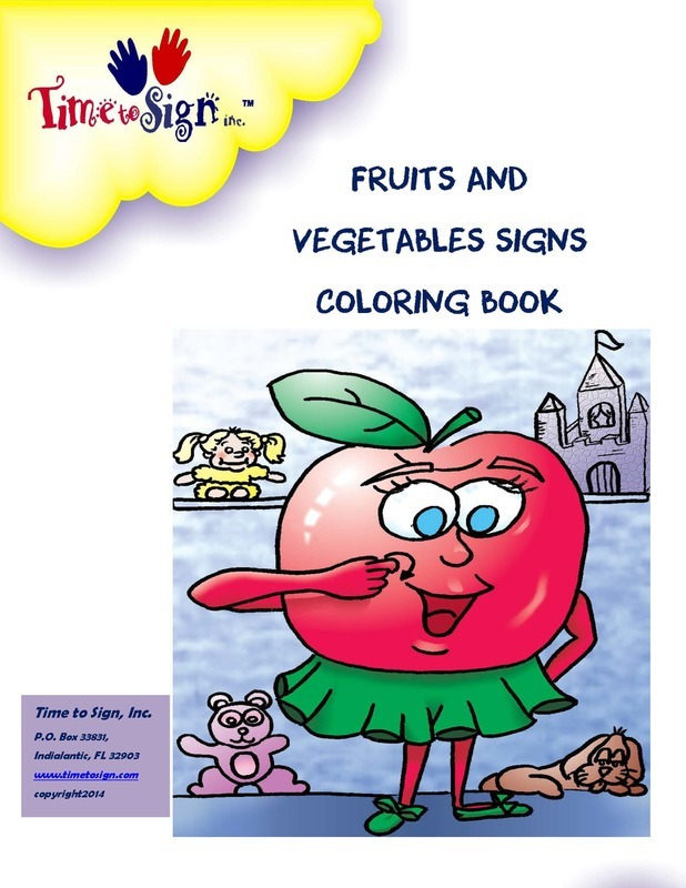 Fruits and Vegetable Coloring Book