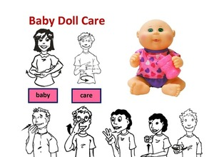 Social Emotional Doll Care Cabbage Patch Drink and Wet Doll with Care and Activities Lessons