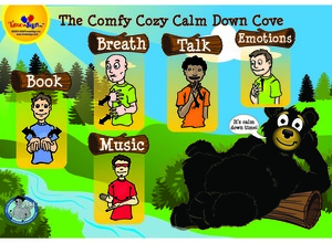 Comfy Cozy Calm Down Cove Poster