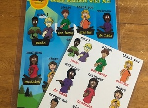 Manners Poster and Card Matching Set