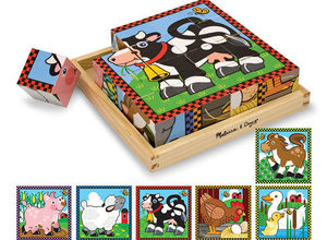 Farm Animal Cube Puzzle Time To Sign