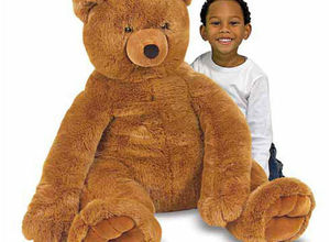Jumbo Plush Brown Teddy Bear