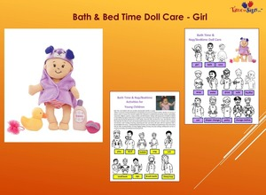 Bath and Bed Time Doll Care Girl