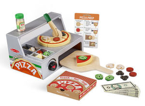 TOP AND BAKE PIZZA COUNTER WOODEN PLAY FOOD