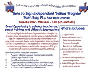 Become a Time to Sign Trainer And Teaching Sign Language for the Early Childhood Environment