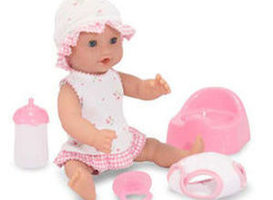 Mine to Love Annie 12 Inch Drink and Wet Doll with Potty Training Kit