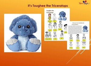 Toughie The Triceratops 10in