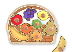 Large 8 Piece Jumbo Fruit Basket Knob Puzzle
