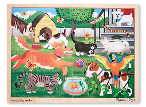 Pets Wooden Jigsaw Puzzle with 24 pieces