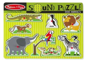 Zoo Animals Sound Puzzle 8 Pieces