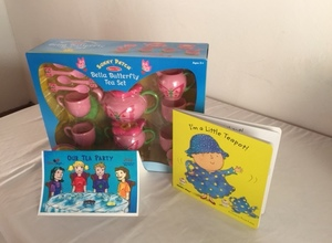 Its A Manners Tea Party Time with Time to Sign with Bella Butterfly Pretend Play Tea Set