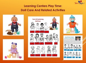 Learning Center Play Time with Doll Care and Related Activities 3 Sets