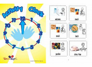 Activity Clock with Sign Language Activities