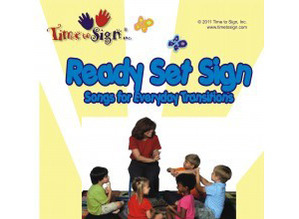 Ready Set Sign Sign Language Music Book with CD and DVD